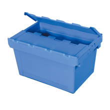 Plastic Stackable Crate Attached Lid Container NLB-2