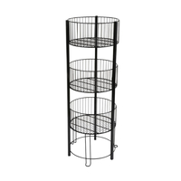 Three Tiers Wire Dump Bin 3 Tier Basket Stan