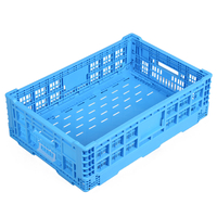 HDPE Plastic Foldable Collapsible Crate 6418