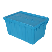 Plastic Stackable Crate Attached Lid Container NLB-4