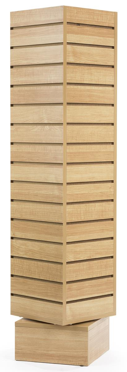 Rotating Wood Slatwall Display Free Standing Slat Wall Displays