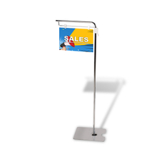 Adjustable Height Flag Sign Holder on Floor