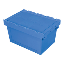 Plastic Stackable Crate Attached Lid Container NLB-3