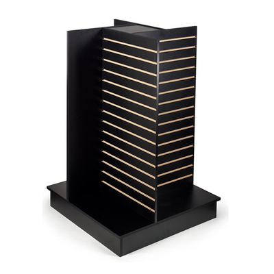 4 Side Slat Wall Display Retail Slatwall Wood Slat Walls