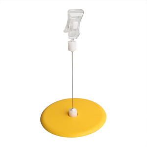 Plastic Round Base Clip Sign Holder