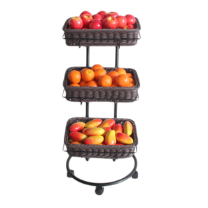 Display Rack for Plastic Rattan Basket