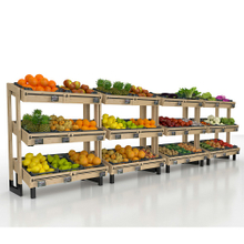 Wooden Display Rack for Fruit And Vegetable