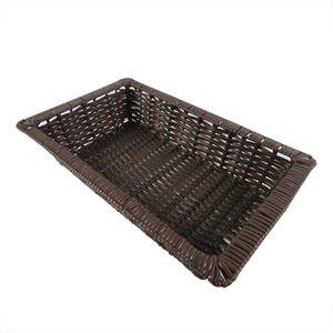 Rectangle Plastic Rattan Basket