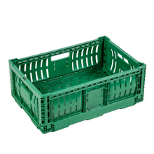 Button Handle Easy Folding Plastic Crate
