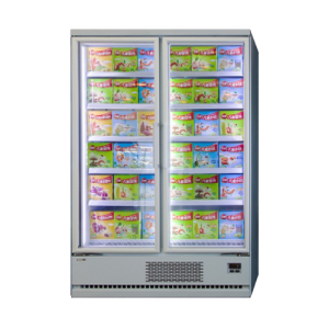 Plug-in Vertical Multi-deck <-18℃ freezer with Glass Door